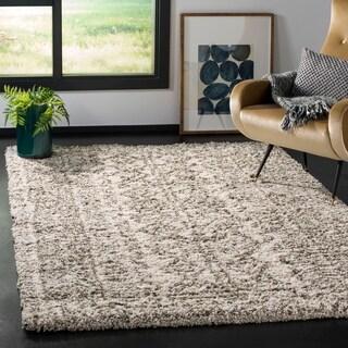 Safavieh Hudson Shag Ivory/ Grey Rug (9' x 12')