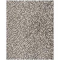 Safavieh Hand-Woven Studio Leather Grey/ Black Leather Rug - 8' x 10'