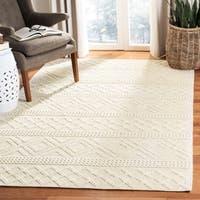 Safavieh Hand-Woven Vermont Ivory Wool Rug (8' x 10')