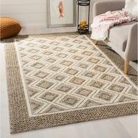 Safavieh Hand-Woven Vermont Beige/ Ivory Wool Rug (8' x 10')
