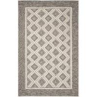 Safavieh Hand-Woven Vermont Grey/ Ivory Wool Rug - 8' x 10'