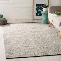 Safavieh Hand-Woven Vintage Leather Beige Leather Rug (8' x 10')