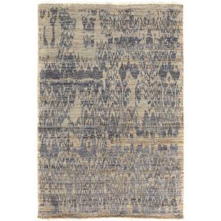 Arshs Kafkaz Peshawar Crysta Gray/Blue Wool Rug (4'1 x 6'3) - 4 ft. 1 in. x 6 ft. 3 in.