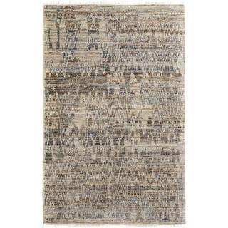 Arshs Kafkaz Peshawar Aide Gray/Blue Wool Rug (4'1 x 6'3) - 4 ft. 1 in. x 6 ft. 3 in.