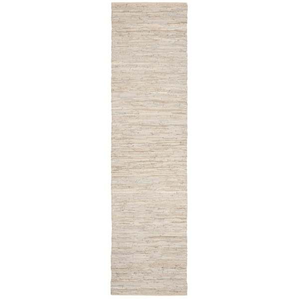 Safavieh Hand-Woven Vintage Leather Beige Leather Rug (2' 3 x 4')