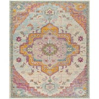 Safavieh Crystal Light Blue/ Fuchsia Rug (11' x 16')