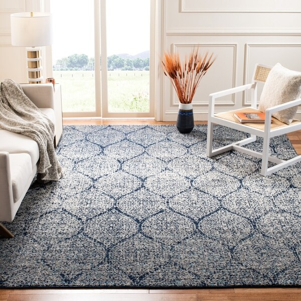 Shop Safavieh Madison Stella Ogee Curve Navy Silver Rug