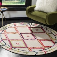 Safavieh Handmade Bellagio Ivory/ Multi Wool Rug - 5' Round