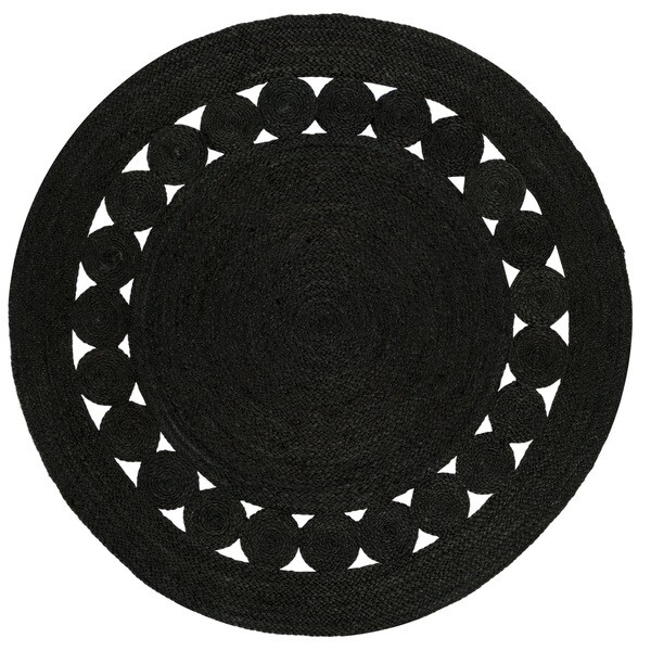 Safavieh Hand-Woven Natural Fiber Black Jute Rug (5' Round)