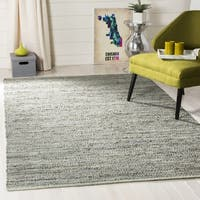 Safavieh Hand-Woven Vintage Leather Grey Leather Rug - 6' Square