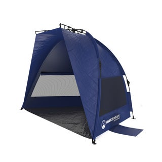 Pop Up Beach Tent- Shade with UV Protection, Water and Wind Resistant, Instant Set Up and Carry Bag By Wakeman Outdoors