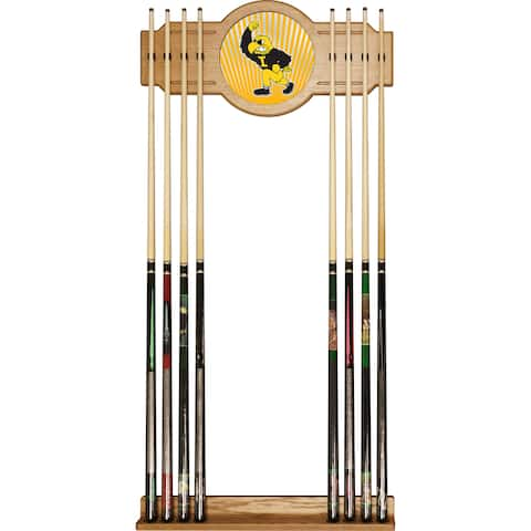 University of Iowa Cue Rack with Mirror - Herky