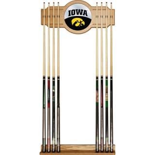 University of Iowa Cue Rack with Mirror - Logo