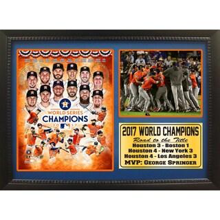 12x18 Photo Stat Frame - 2017 World Series Champions Houston Astros