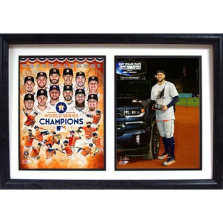 12x18 Double Frame - 2017 World Series Champions Houston Astros