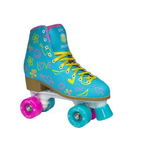 Epic Splash Indoor/Outdoor Fashion High-Top Quad Roller Skates
