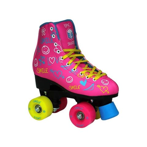 Epic Blush Indoor/Outdoor Fashion High-Top Quad Roller Skates