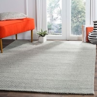 Safavieh Hand-Woven Natura Grey/ Black Wool Rug - 2'3 x 8'