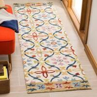 Safavieh Hand-Hooked Suzani Ivory/ Multi Wool Rug - 2'3 x 8'