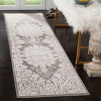 Safavieh Reflection Dark Grey/ Cream Polyester Rug - 2' 3 x 8'