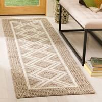 Safavieh Hand-Woven Vermont Beige/ Ivory Wool Rug - 2' 3 x 8'