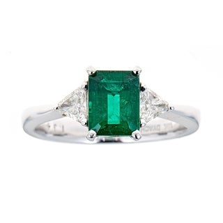 18K White Gold Emerald And Diamond Ring by Anika And August/ GIA CERTIFIED 6187588200