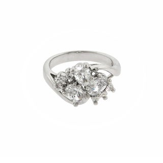 Eternally Haute 2.5 Carat T.W Oval Cluster Cocktail Ring