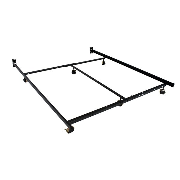 shop low profile premium lev r lock bed frame twin full queen cal king e king with 6 legs. Black Bedroom Furniture Sets. Home Design Ideas