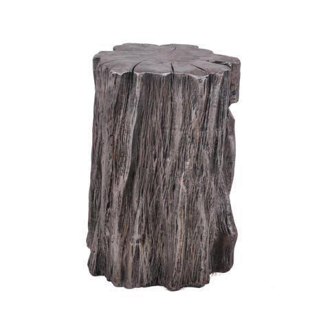 """Aurelle Home Silver Farmhouse Rustic Wood Accent Chair - 13.25"""" x 14.25"""" x 19.25"""""""