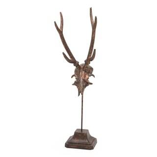 Aurelle Home Antiqued Copper Deer Antlers