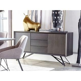 Aurelle Home Modern Italian Grey Storage Sideboard