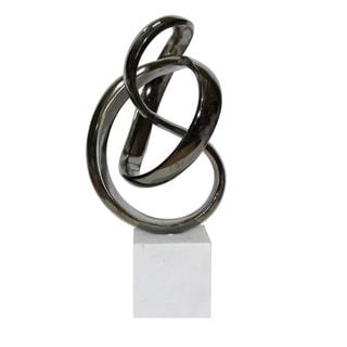 Aurelle Home Black Nickel Swirl Sculpture