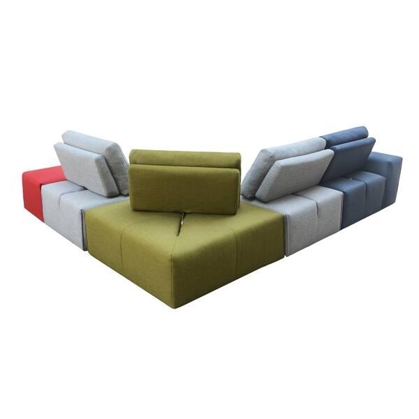 Amazing Shop Aurelle Home Nikoli Modern Upholstered Modular Evergreenethics Interior Chair Design Evergreenethicsorg