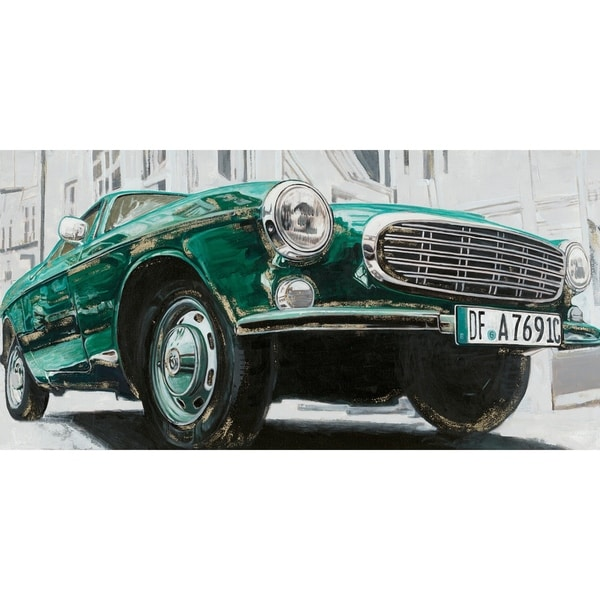 Shop Aurelle Home Green Euro Car Acrylic Wall Decor On Sale Free