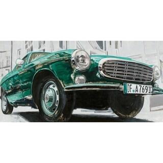 Aurelle Home Classic Green Euro Car Acrylic Wall Decor