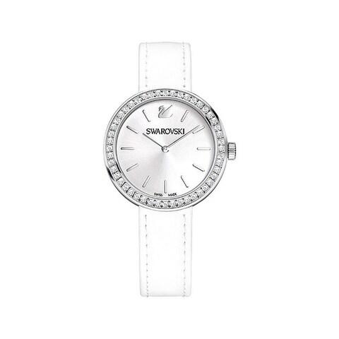 Swarovski Daytime White Dial Leather Strap Women's Watch