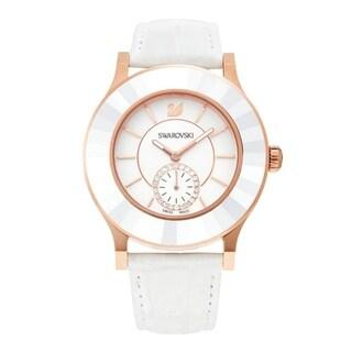 Swarovski Octea White Dial Leather Strap Women's Watch 5043143
