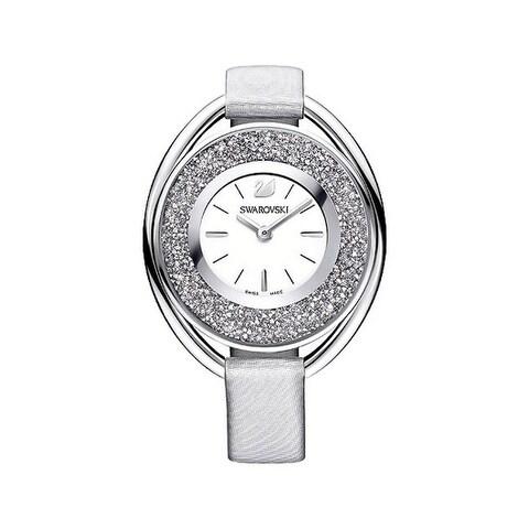 Swarovski Crystalline White Dial Leather Strap Women's Watch
