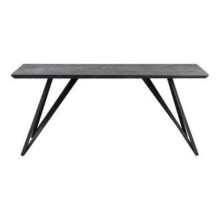 Aurelle Home Italian Modern Rectangular Ceramic Dining Table - Grey