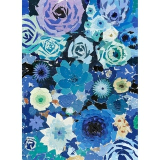 Aurelle Home Blue Flowers Acrylic Wall Decor