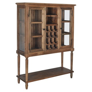 Aurelle Home Colonial Antique Solid Wood Wine Cabinet