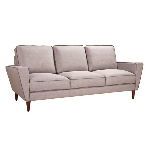 Aurelle Home Madison Grey Cushion Back Sofa