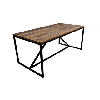 Aurelle Home Farmhouse Modern Solid Mango Wood Dining Table