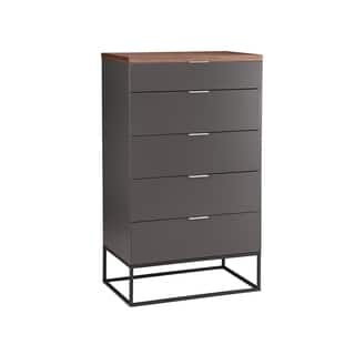 Italian Modern Dark Grey 4-drawer Dresser|https://ak1.ostkcdn.com/images/products/18757254/P24830156.jpg?impolicy=medium
