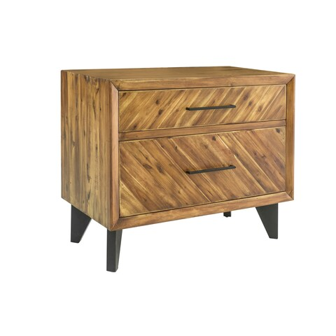 Aurelle Home Cappuccino Wood Filing and Storage Cabinet