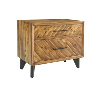 Aurelle Home Craftsman Cappuccino Wood Filing and Storage Cabinet