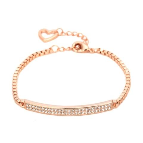 Ankle Bracelet Anklet Crystal Bar Rose Gold Adjustable Anklet