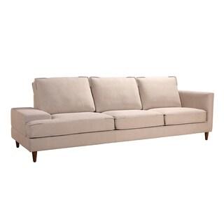 Aurelle Home Cream Open End Loose Back Sofa