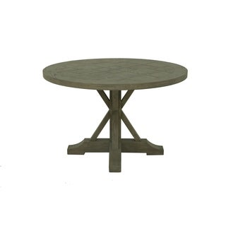 Aurelle Home Reclaimed French Farmhouse Round Trestle Dining Table - Brown