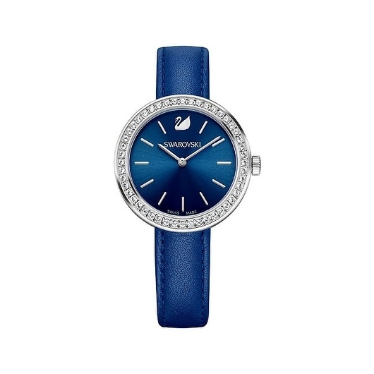16653034e Shop Swarovski Daytime Blue Dial Leather Strap Women's Watch 5213977 - Free  Shipping Today - Overstock - 18757784